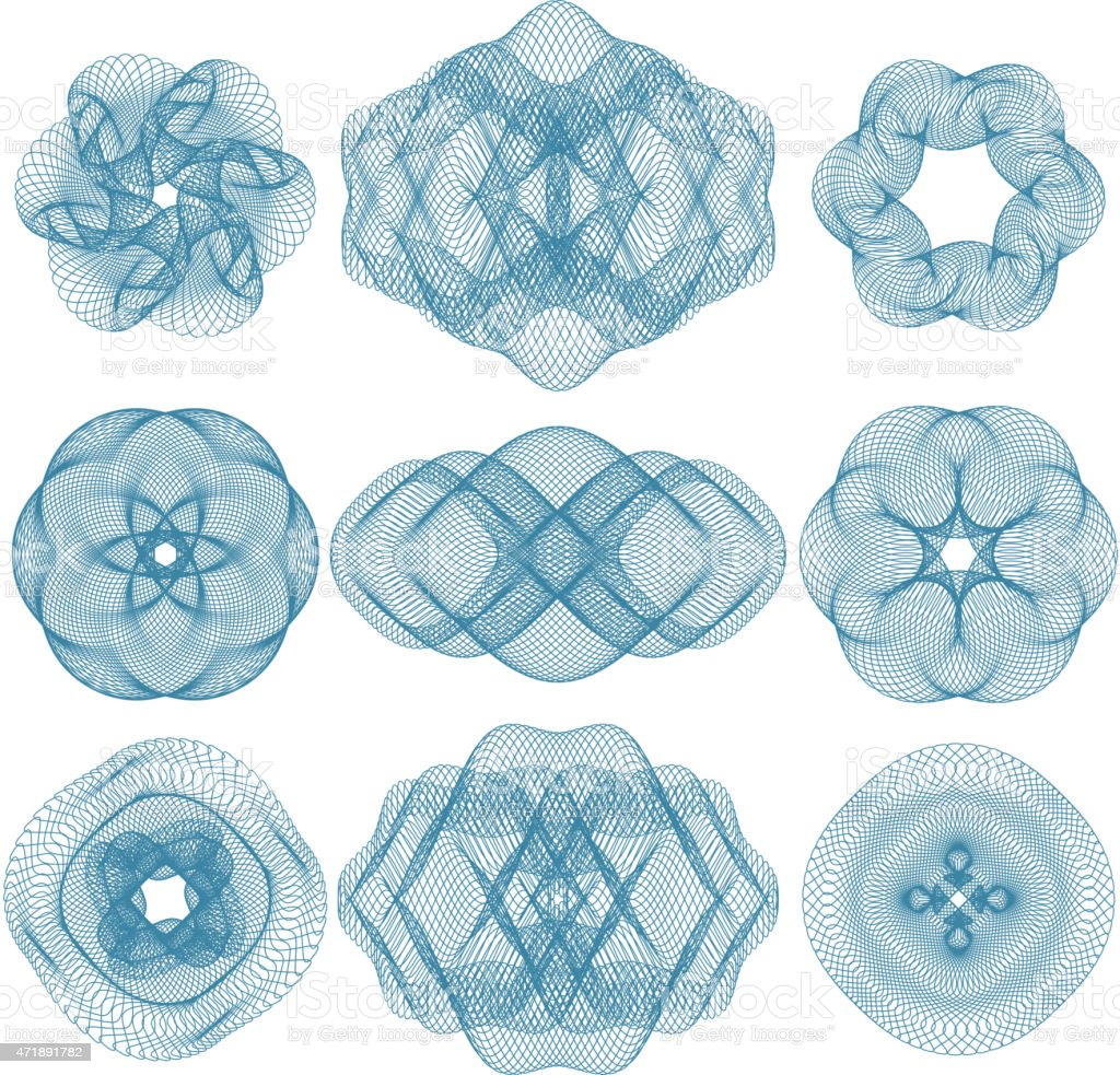 Vector pattern that is used in diplomas vector art illustration