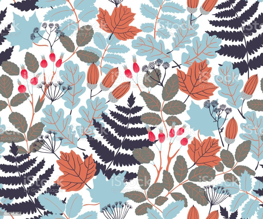 Vector pattern royalty-free vector pattern stock vector art & more images of acorn