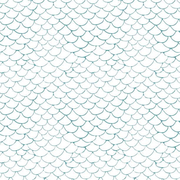 vector pattern with a flake texture on a white background seamless vector pattern with a flake texture on a white background fish stock illustrations