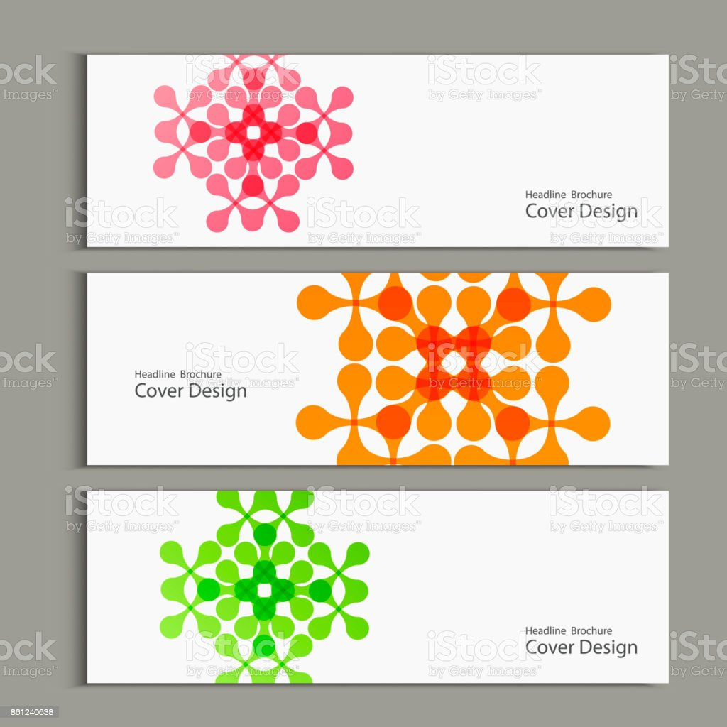 Vector pattern with abstract figures banners vector art illustration