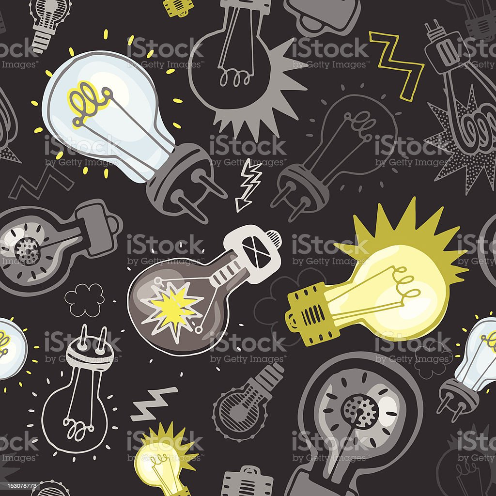 Vector pattern with bulbs vector art illustration
