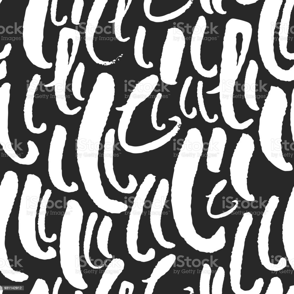Vector Pattern With Calligraphy Letters L Royalty Free Stock