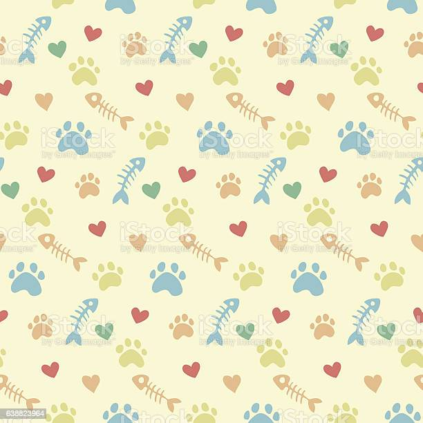Vector pattern with cats paw prints vector id638823964?b=1&k=6&m=638823964&s=612x612&h=bbbpcploosgm8oastg3  tzofxbdkroziengma1owxy=