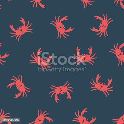 Vector pattern with crabs