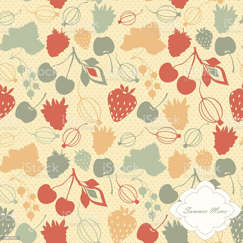 Vector pattern with decorative berries royalty-free stock vector art