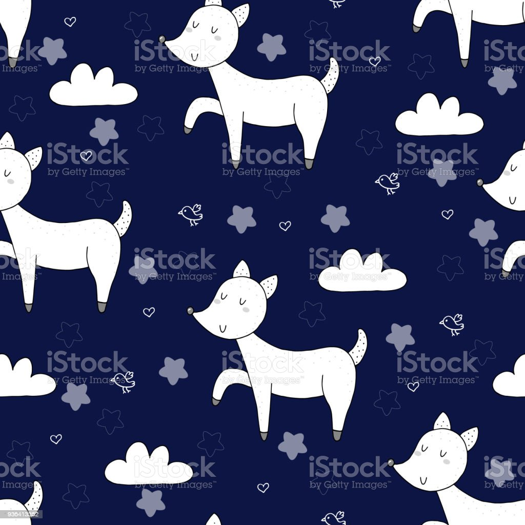 Vector Pattern With Deer Printable Templates Stock Vector Art More