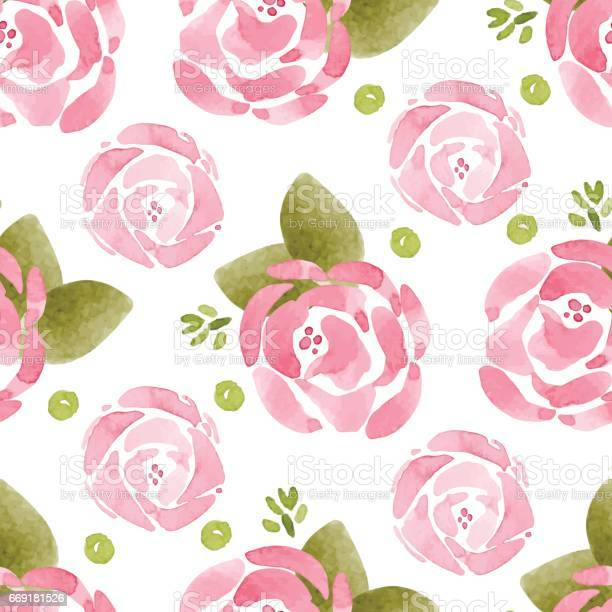 Vector pattern with flowers and plants watercolor floral pattern vector id669181526?b=1&k=6&m=669181526&s=612x612&h=xtn d7mc eho0mpisconz99cm4ezoq9ojaeo4j2yn0g=