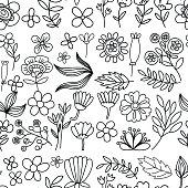 istock Vector pattern with flowers Garden Birhday Wedding Postcard 545796166