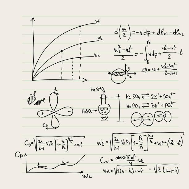 ベクトルパターンに数学関数 - 物理学点のイラスト素材/クリップアート素材/マンガ素材/アイコン素材