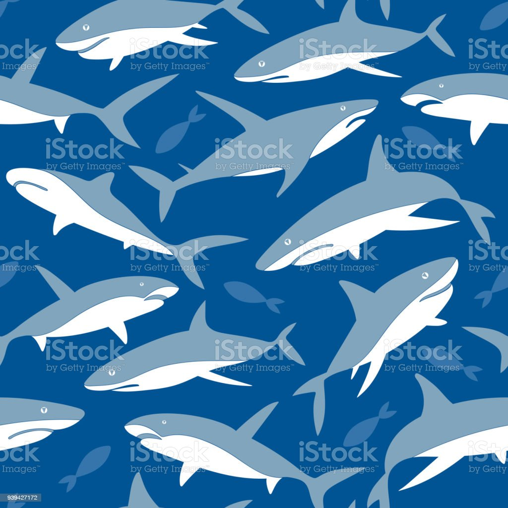 c281adfd78e3e Vector Pattern with silhouettes of underwater Sea Fish, Contemporary  Background and print, Cloth design for Kids - Illustration .