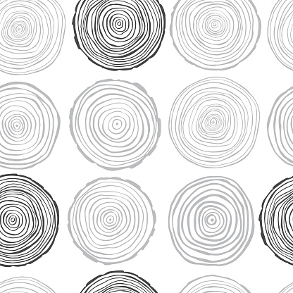 Vector  pattern with tree rings