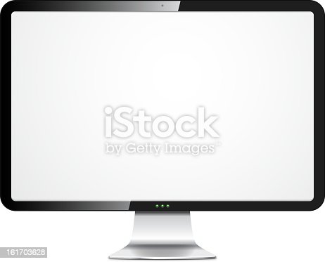 istock Vector pc monitor 161703628