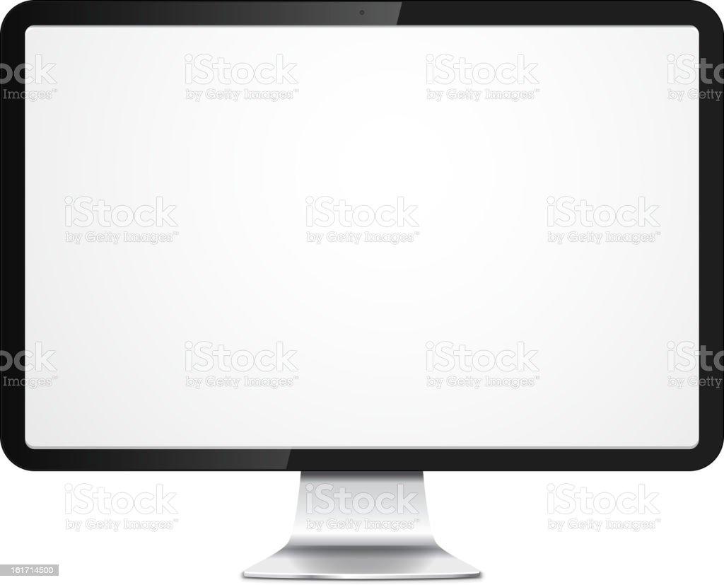 Vektor-pc-monitor - Lizenzfrei Ausrüstung und Geräte Vektorgrafik