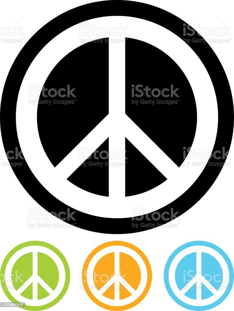 Vector peace sign icon vector art illustration