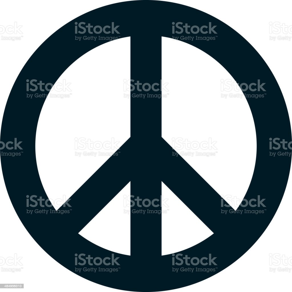 Vector peace symbol isolated on white background vector art illustration