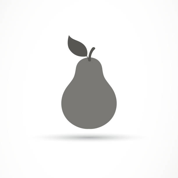 Vector Pear Icon vector art illustration