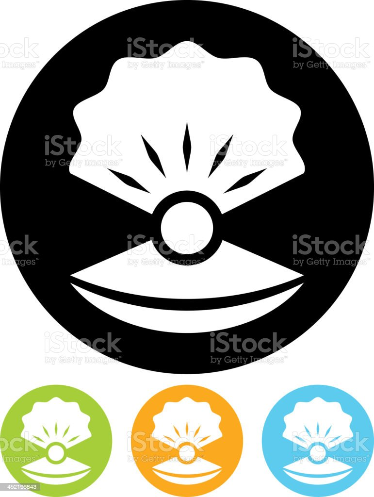Vector pearl in shell royalty-free stock vector art