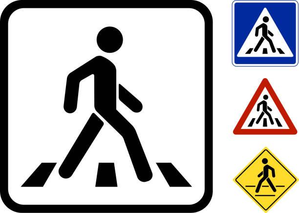 Vektor Fußgänger-Symbol – Vektorgrafik