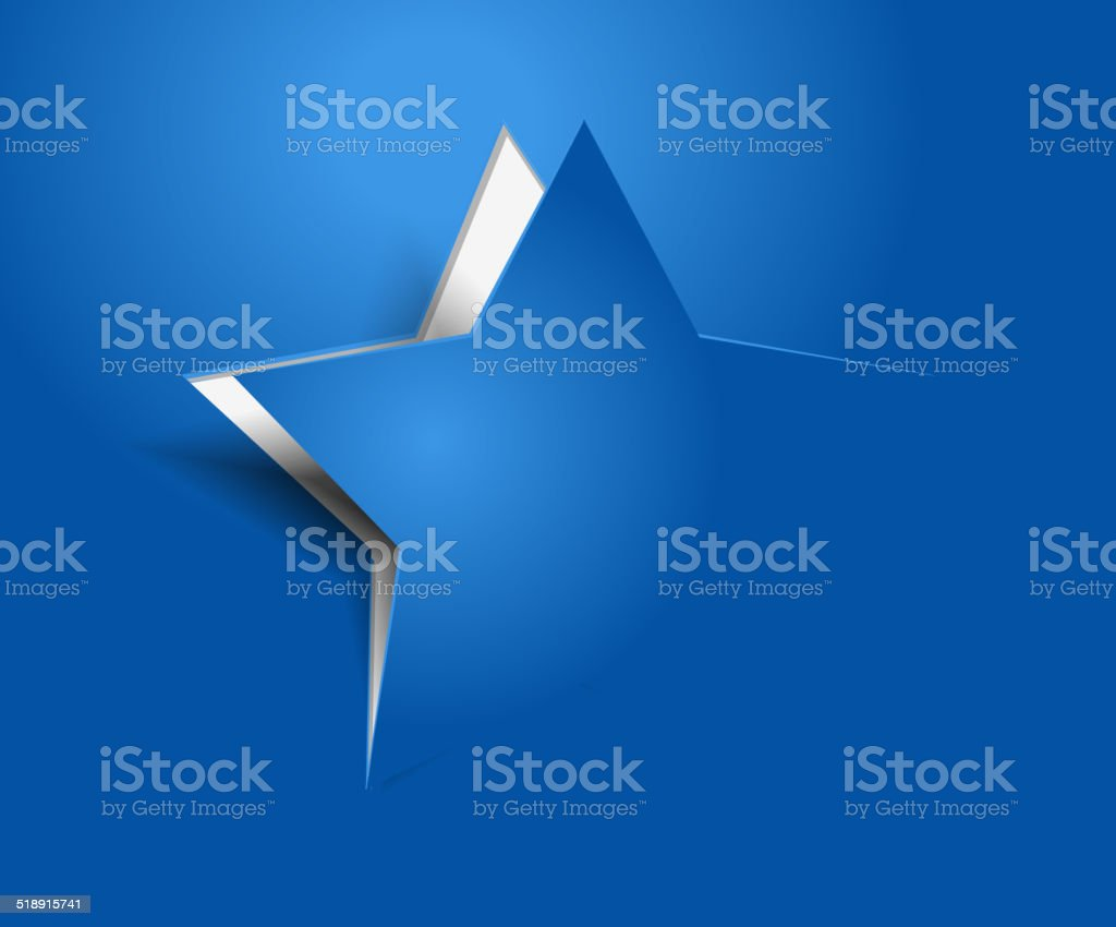 vector peel off star vector art illustration