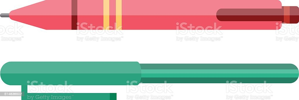 Vector pen vector illustration vector art illustration
