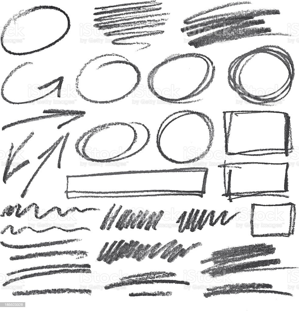 vector pencil design elements vector art illustration