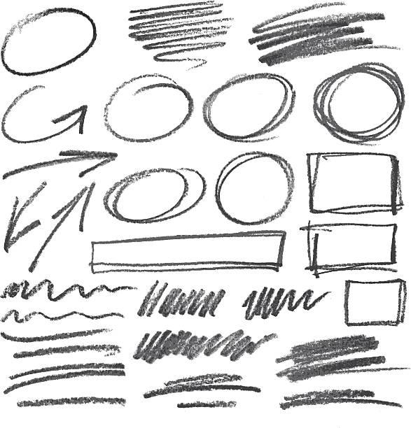 stockillustraties, clipart, cartoons en iconen met vector pencil design elements - potlood