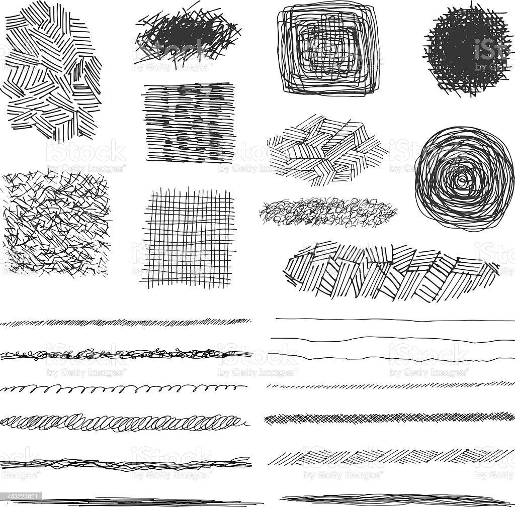vector lápiz stokes desifn elementos - ilustración de arte vectorial