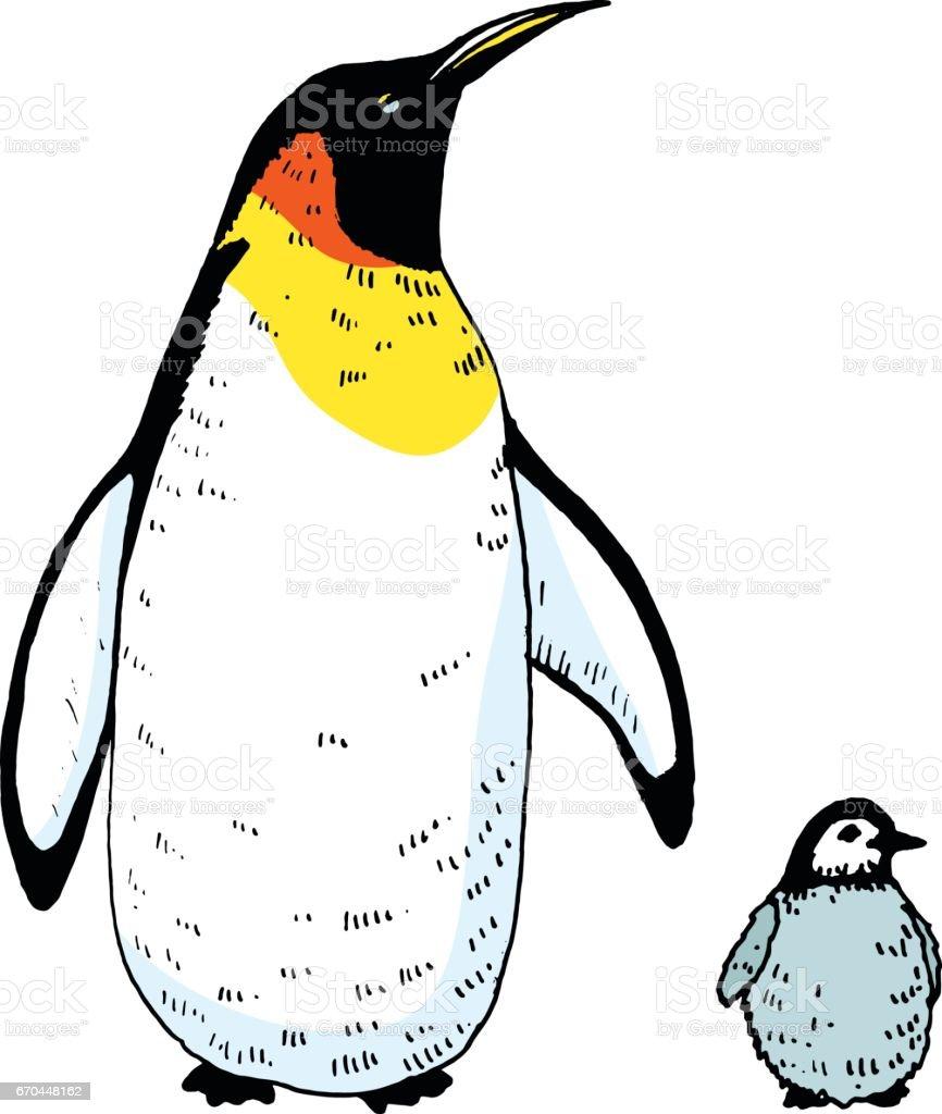 赤ちゃんイラスト ベクトル ペンギン イギリスのベクターアート素材や