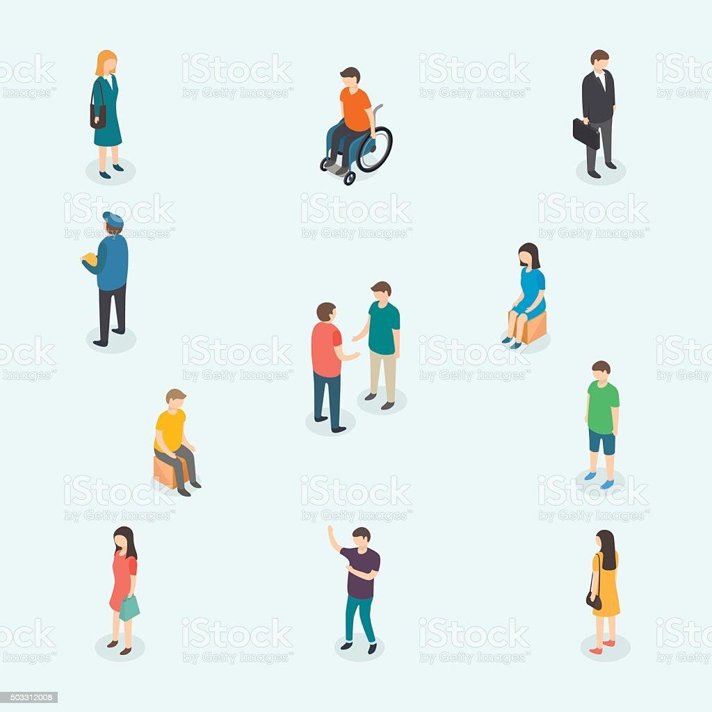 Vector people. Set of woman and man. vektör sanat illüstrasyonu