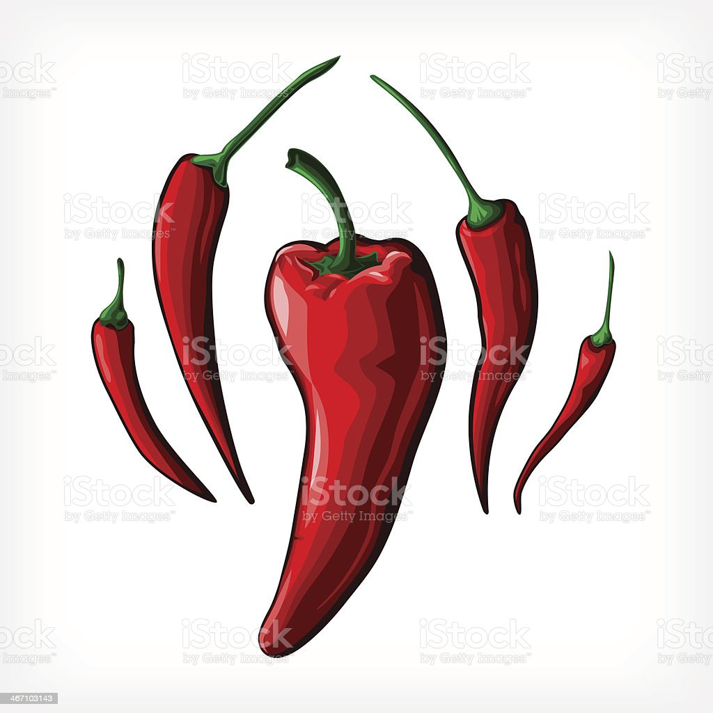 Vector Peppers royalty-free stock vector art