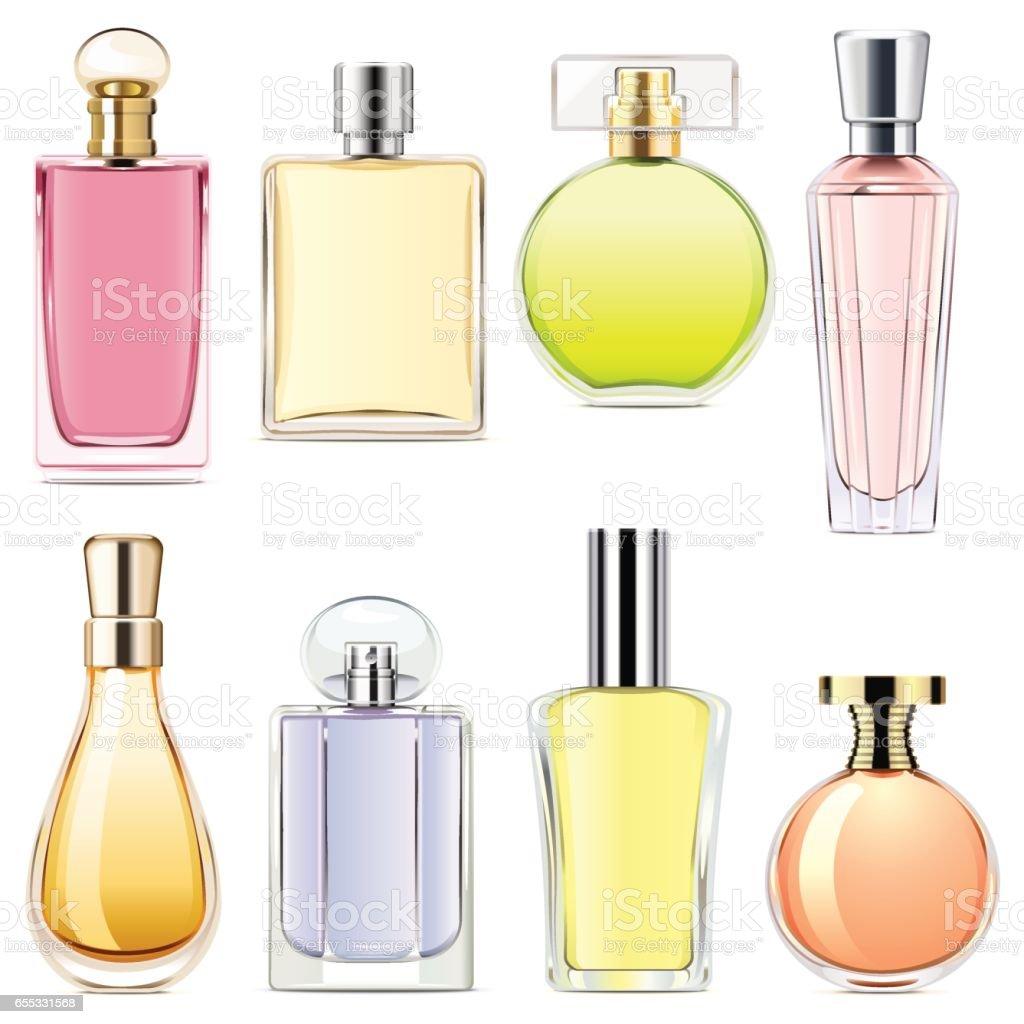 Ícones de Perfume de vetor - ilustração de arte em vetor