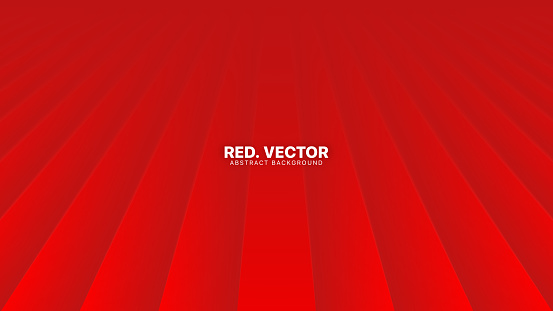 3D Vector Perspective Smooth Lines Deep Red Abstract Background