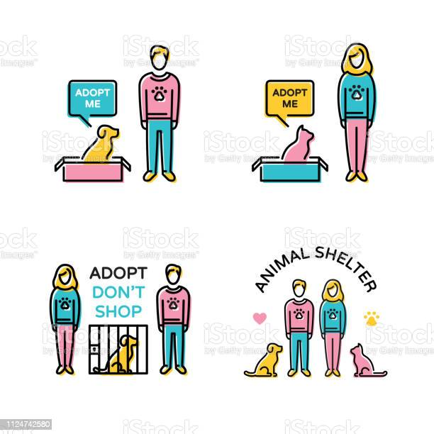 Vector pet adoption banner illustration set vector id1124742580?b=1&k=6&m=1124742580&s=612x612&h=uokfpbmlbv7xlhh0nzu  utuvc c70atwktxhfv8ncy=