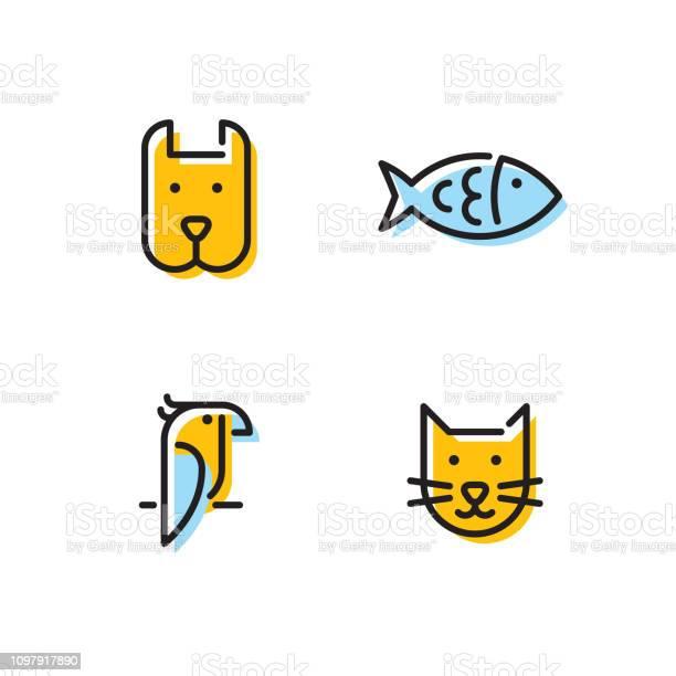 Vector pet icon logo set vector id1097917890?b=1&k=6&m=1097917890&s=612x612&h=yelwgr9pmeuca h89kixjxchoutdfsofijvgfkw1gpw=