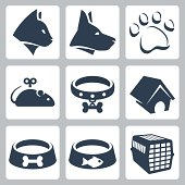 Vector pet icons set