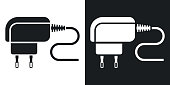 Vector Phone Charger icon. Two-tone version