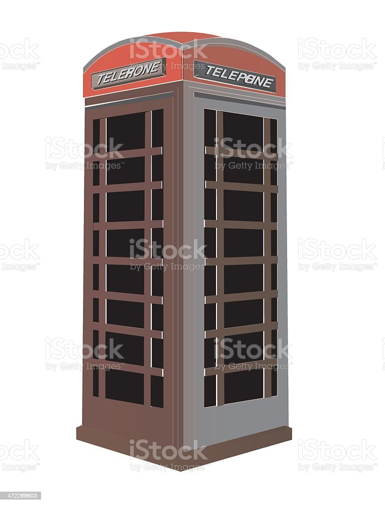vector phonebox vector art illustration