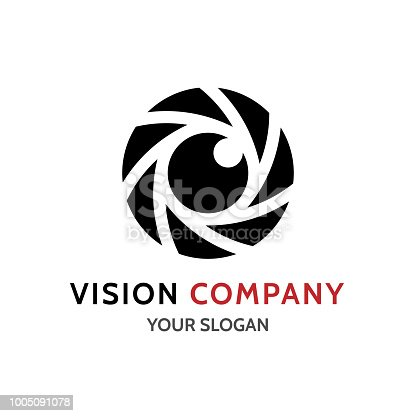 Vector Photo camera aperture sign icon. Photo Camera Photography Elements and Video Camera Icons Illustration can be used as Logo or Icon