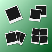 Illustration of Vector Photo Frame. EPS10 Vector Realistic Snapshot Icon Square Photo Template