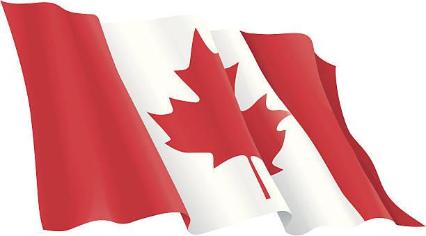 ilustrações, clipart, desenhos animados e ícones de bandeira canadense - bandeira do canadá