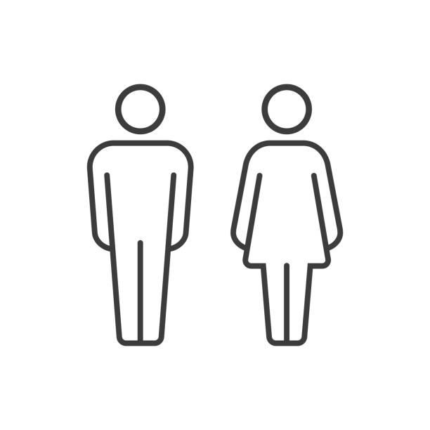 男人和女人的向量象形圖 - 女性 幅插畫檔、美工圖案、卡通及圖標