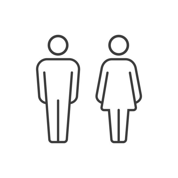vector pictograms of man and woman - мужчины stock illustrations