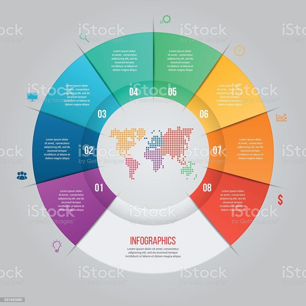 Ilustración de Vector De Plantilla De Diagrama Circular Para ...