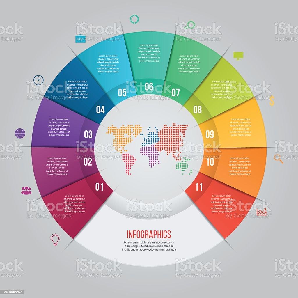 Vector De Plantilla De Diagrama Circular Para Gráficos Cuadros ...