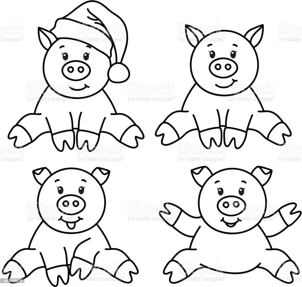 vector pig cartoons stock vector art more images of animal