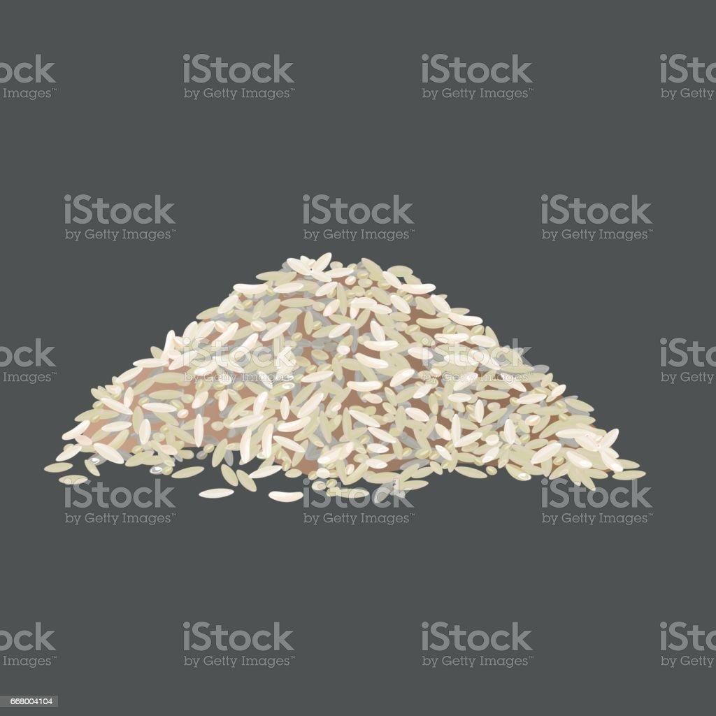 Vector pile of rice vector art illustration