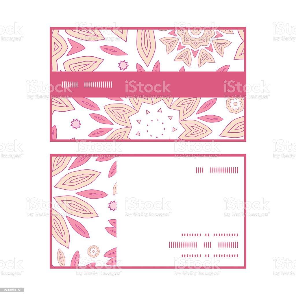 Vector Fleurs Rose Abstrait Motif Rayures Horizontales De Cartes Visite