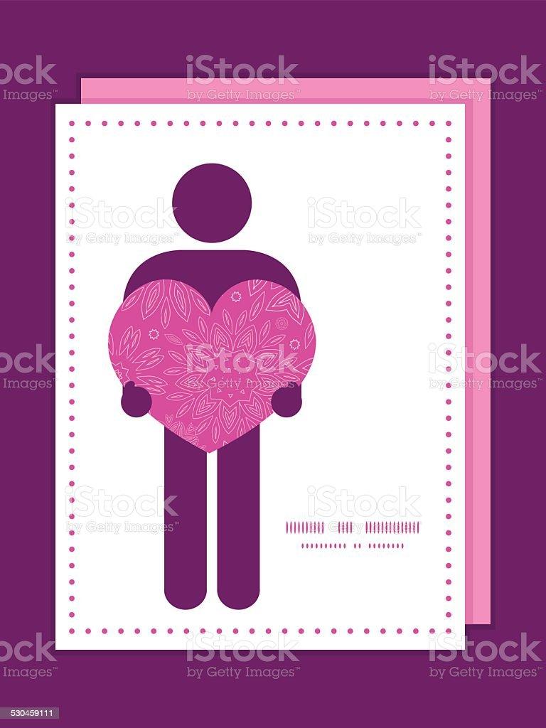 Vecteur Rose Fleurs Abstraites Texture Homme En Amour Silhouette De