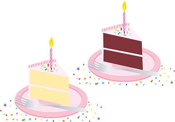 Gâteau d'anniversaire rose - Illustration vectorielle