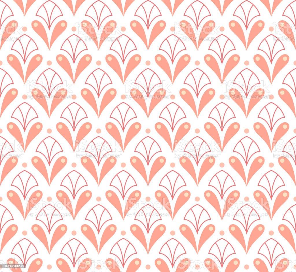 Vektorrosa Nahtlose Ornament Geometrischen Blume Elegante Textur
